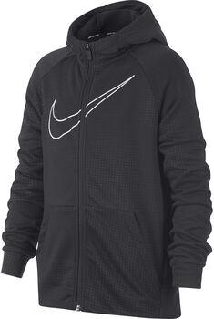 Nike b nk dry hoodie fz emb leg niño Negro