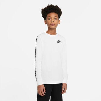 Nike Camiseta Manga Larga Taping niño Blanco