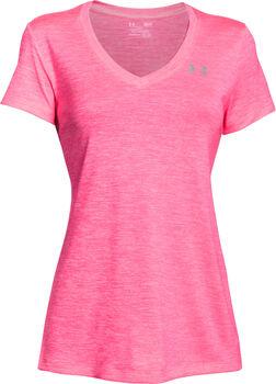 Under Armour Camiseta con cuello de pico UA Tech™ difuminada para mujer Rojo