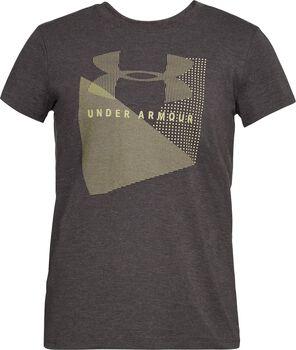 Under Armour Camiseta de malla UA Sportstyle con logotipo para mujer Gris