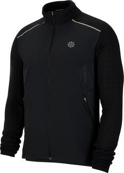 Nike Camiseta manga larga Top running con cremallera hombre Negro