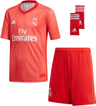 Conjunto fútbol Real Madrid adidas 3 Y KIT  niño