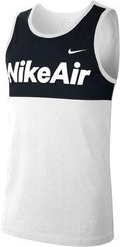 Nike Camiseta de tirantes AIR TANK hombre Blanco