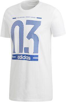 ADIDAS Number 03 Camiseta Manga Corta hombre Blanco