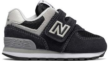 New Balance Zapatillas de cuero 574 Classic Negro