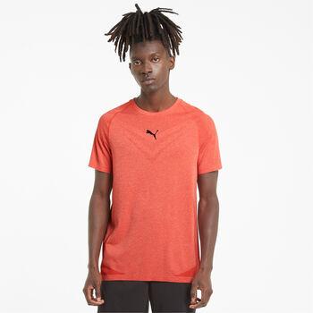 Puma Camiseta Manga Corta Tech Evoknit hombre Rojo
