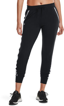 Under Armour Pantalón Rival Terry Taped mujer Negro