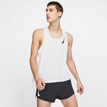 Nike Camiseta Sin Mangas Aeroswift hombre Blanco