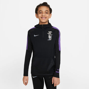 Sudadera con capucha de Fútbol Nike Dri-FIT Kylian Mbappé niño Negro