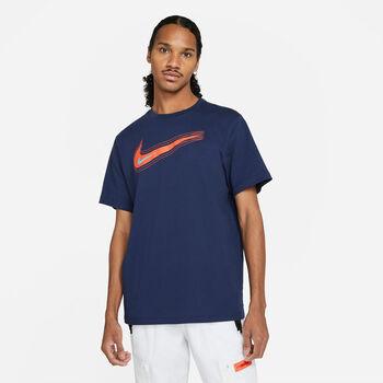 Nike Camiseta Manga Corta Swoosh hombre Azul