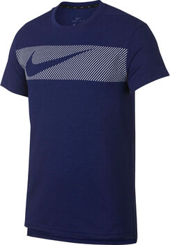 Nike Camiseta de manga corta de entrenamiento  Dri-FIT Breathe hombre Azul