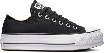 adc20f5fc Converse CTAS LIFT OX BLACK GARNET WHIT mujer Negro