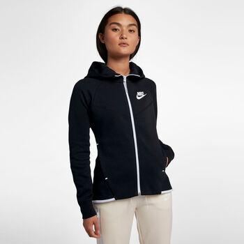 Nike Nsw TCH FLC WR HOODIE FZ mujer Negro