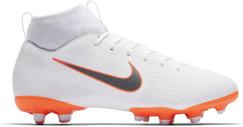 Nike Botas fútbol  Mercurial JR Superfly 6 Academy GS MG  niño Blanco