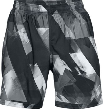 Under Armour Pantalón corto Launch SW estampado de 20 cm para hombre Gris