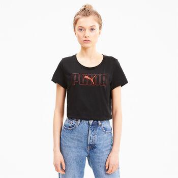 Puma Camiseta de manga corta Rebel Graphic mujer