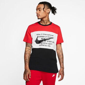 Nike Camiseta Manga Corta M NSW SWOOSH TEE SS hombre Negro