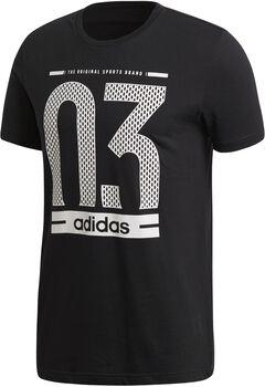 adidas Number 03 Camiseta Manga Corta Hombre Negro