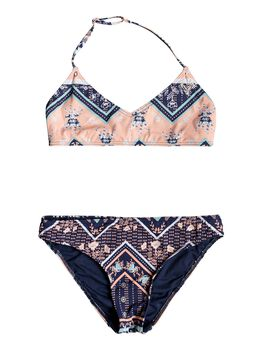 Roxy Heart In The Waves - Conjunto de Bikini Triangular Bralette para Chicas 8-16 niña