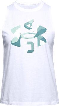 Under Armour Camiseta sin mangas con estampado UA Logo Muscle mujer Blanco