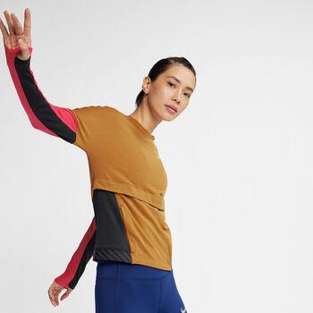 Nike Camiseta Running  Dri-FIT Therma Sphere mujer Amarillo