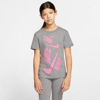 Nike Camiseta Manga Corta G NSW TEE DPTL SWOOSH niña Negro
