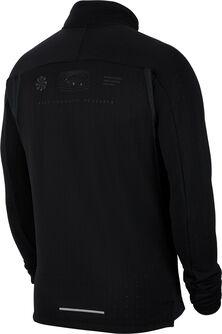 Camiseta manga larga Top running con cremallera