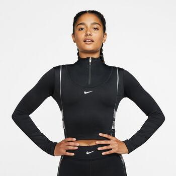 Nike Camiseta m/lNP CLN HYPERWARM HZ LS TP mujer Negro