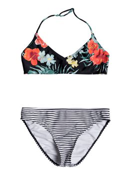Roxy Happy Spring - Conjunto de Bikini Triangular Bralette para Chicas 8-16 niña
