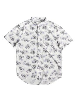 Quiksilver Fluid Geometric - Camisa de Manga Corta para Hombre