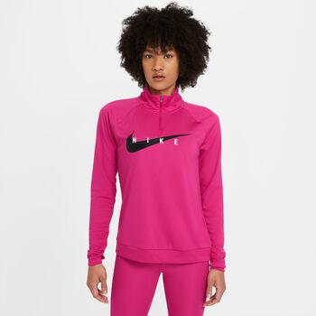 Sudadera Nike Swoosh RUN mujer Rojo