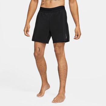 Nike Yoga Pantalón corto 2 en 1 para hombre Negro