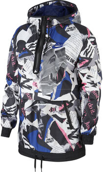 Nike Newsprint Sudadera con capucha mujer Negro