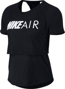 Nike W NK AIR TOP SS GX mujer Negro