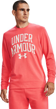 Under Armour Camiseta manga larga Rival Terry Crew hombre Rosa