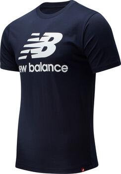 New Balance Camiseta Manga Corta Essentials Stacked Logo hombre Azul