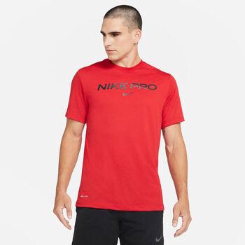 Camiseta de manga corta Nike Pro hombre Rojo