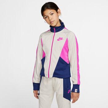 Nike Sudadera Sportswear Heritage Big K niña Blanco