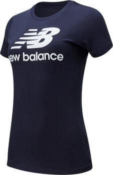 New Balance Camiseta manga corta Essentials Stacked Logo mujer Azul