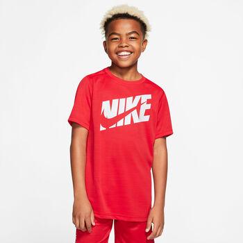 Nike Camiseta Manga Corta Logo niño Rojo