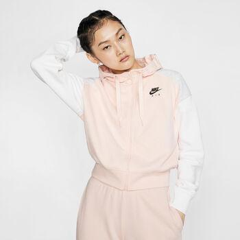 Nike Sudadera W NSW AIR HOODIE FZ BB mujer Rojo