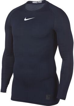 Nike Pro Top LS Comp hombre Azul