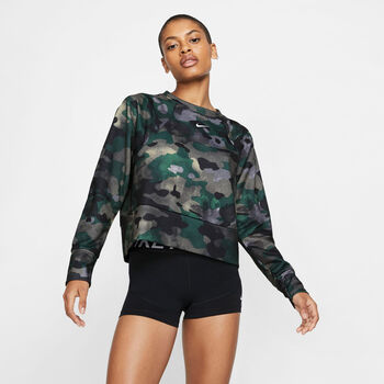 Nike Camiseta m/lNK REBEL DRY FC CW mujer