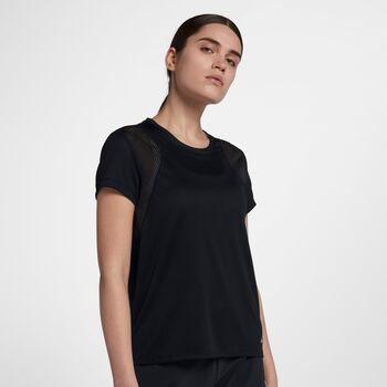 Nike TOP SS RUN mujer Negro
