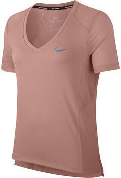 Nike Miler Top Vneck  mujer Rojo