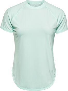 Under Armour Camiseta de manga corta deportiva UA Armour Hi-Lo mujer Azul