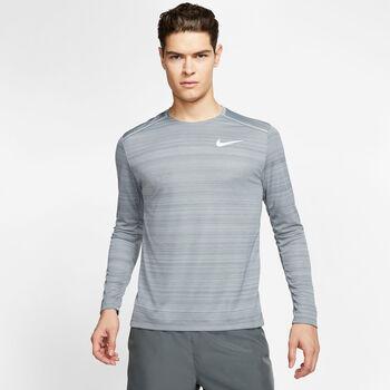 Nike DRY MILER TOP LS hombre Gris