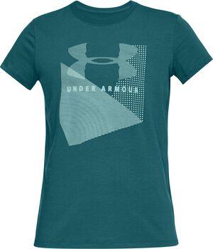 Under Armour Camiseta de malla UA Sportstyle con logotipo para mujer Verde
