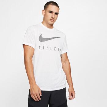 Nike Camiseta m/cNK DRY TEE DB SWSH ATH SSNL hombre Blanco