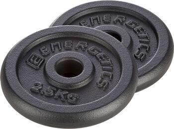 Energetics Cast Iron Disc Pair 30MM disco Negro